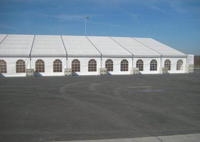 25 m Zelt mit Ballastgewichte
