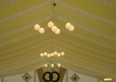 Kugellampen für Großzelte, 160 cm Durchmesser