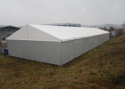 Lagerzelt, 16 m breit, 55 m lang mit Schneelast 0,75 kn/m²