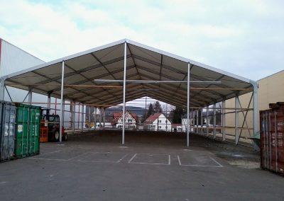 Aufbau Lagerzelt