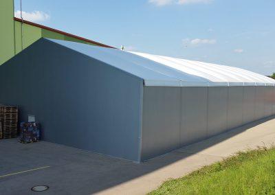 Thermo Leichtbauhalle, Größe: 20 m x 45 m mit Thermodach