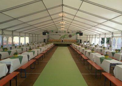 Zelthalle 15 m breit, 36 m lang