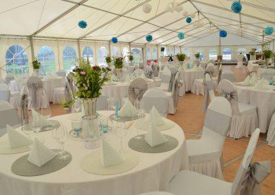 Hochzeitszelt 10 m breit