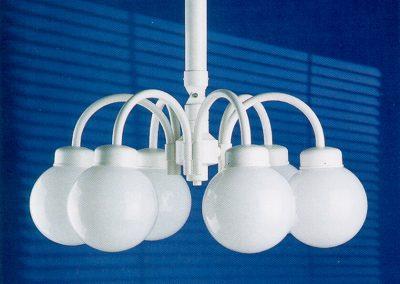 6-flammige Kugellampen für Partyzelte