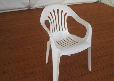 Kunststoffstuhl, weiß