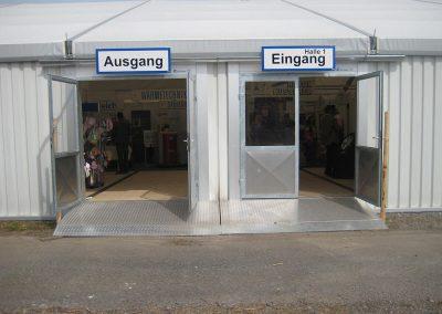 Eingangstüren mit Anrampung